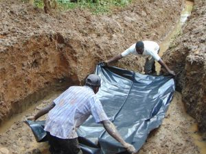 The Water Project:  Foundation Laying