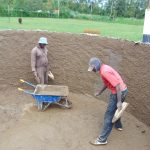 The Water Project: Ebulonga Mixed Secondary School -  Plastering Inside Rain Tank