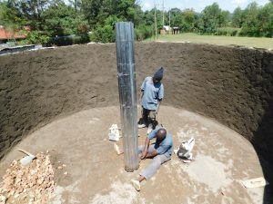 The Water Project:  Constructing Central Support Pillar