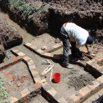 The Water Project: Bumira Community, Madegwa Spring -  Brick Setting Begins
