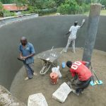 The Water Project: Shichinji Primary School -  Plastering Interior Of Tank
