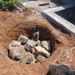 The Water Project: Nanganda Primary School -  Soak Pit Construction
