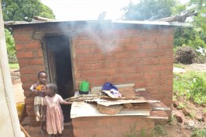 The Water Project:  Children In Front Of Kitchen