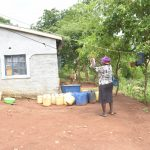 The Water Project: King'ethesyoni Community A -  Hanging Up Clothes To Dry