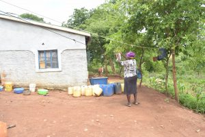The Water Project:  Hanging Up Clothes To Dry