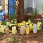 The Water Project: Kavyuni Salvation Army Primary School -  Collection Of Water Storage Containers