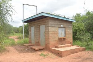The Water Project:  Community Borehole Kiosk Where Students Sometimes Have To Fetch Water
