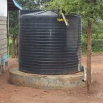 The Water Project: Tyaa Kamuthale Secondary School -  Small Water Storage Tank