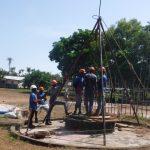 The Water Project: Lokomasama, Menika, DEC Menika Primary School -  Drilling