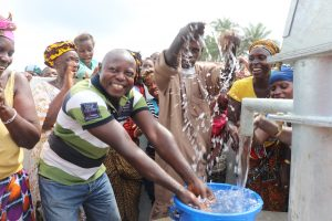 The Water Project:  Principal Celebrates The Completed Well