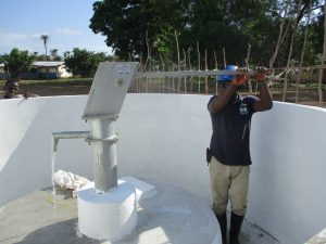 The Water Project:  Pumping Water After Installation