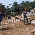 The Water Project: Lokomasama, Menika, DEC Menika Primary School -  Raising Tripod