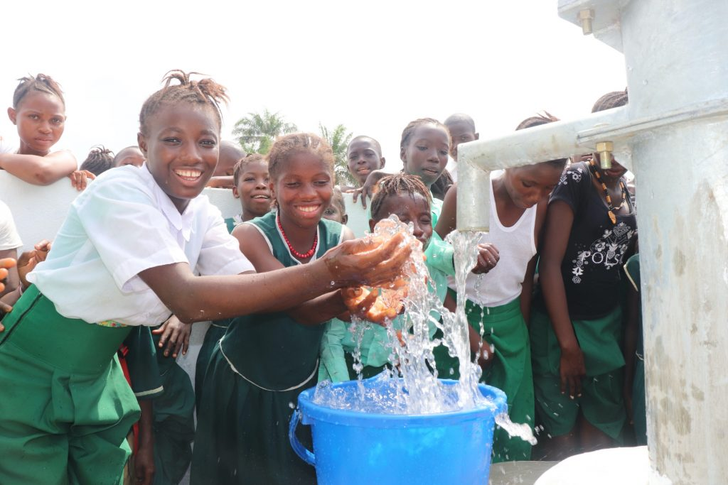 The Water Project : sierraleone19267-students-play-in-the-water-1