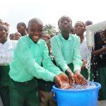 The Water Project: Lokomasama, Menika, DEC Menika Primary School -  Students Play In The Water