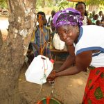 The Water Project: Lokomasama, Menika, DEC Menika Primary School -  Washing Hands With New Tippy Tap