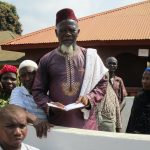 The Water Project: Lungi, Masoila, #3 Kamara Street -  Chief Imam Reading The Funeral Prayer
