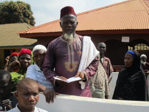 The Water Project:  Chief Imam Reading The Funeral Prayer