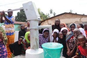 The Water Project:  Children Celebrate A Their New Well