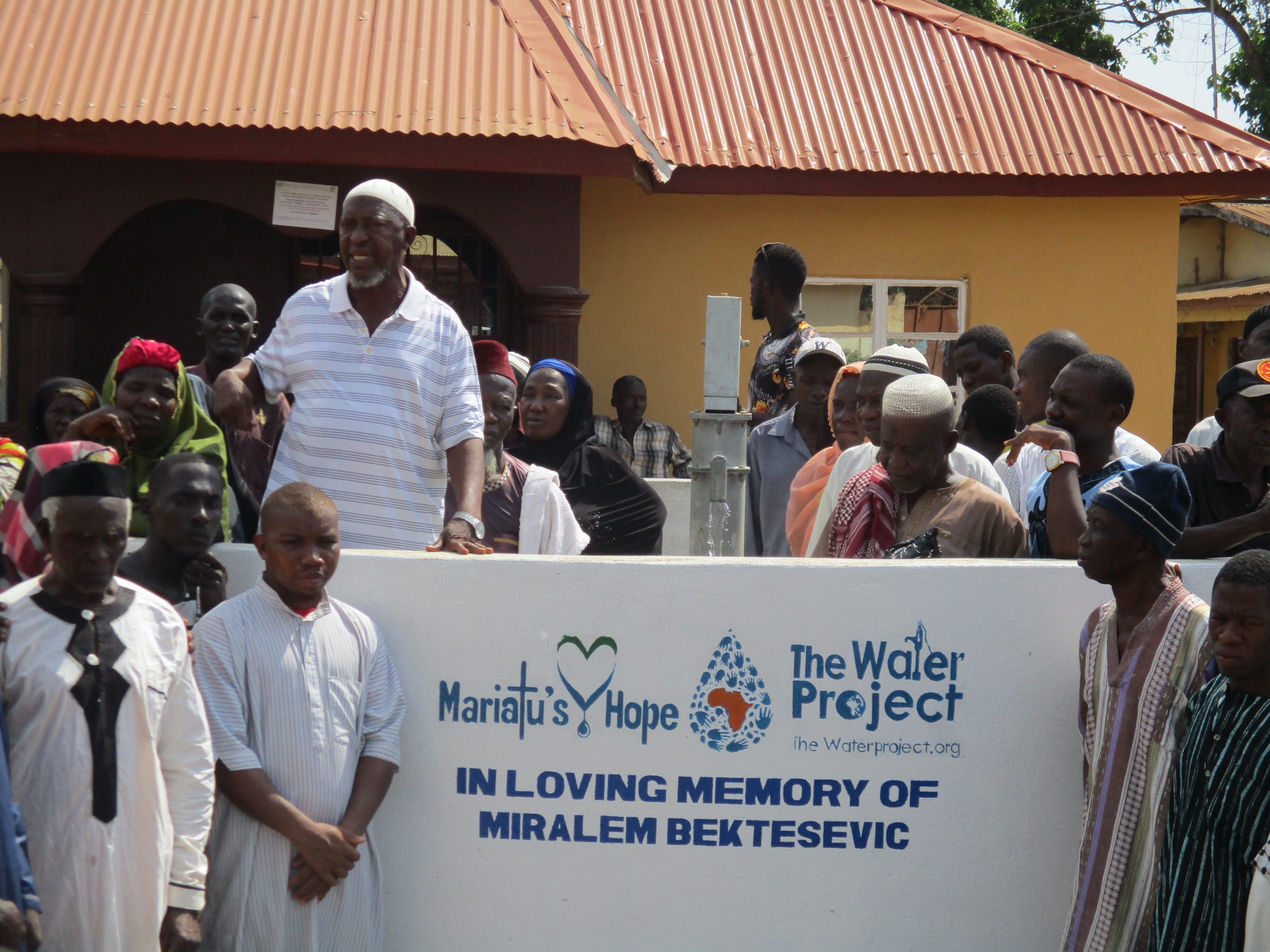 The Water Project : sierraleone19284-elder-of-the-mosque-making-a-statement