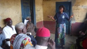 The Water Project:  Facilitator Speaks To Attendees