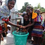 The Water Project: Lungi, Masoila, #3 Kamara Street -  Girls Celebrate At The Well