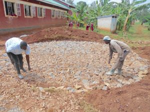 The Water Project:  Preparing Rain Tank Foundation