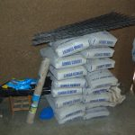 The Water Project: Buyangu Community, Mukhola Spring -  Delivered Materials Storage