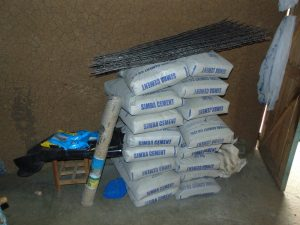 The Water Project:  Delivered Materials Storage