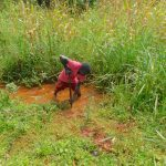 The Water Project: Shikhombero Community, Atondola Spring -  Constructing Drainage Channel