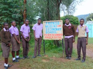 The Water Project:  Students Pose With School Sign At Entrance