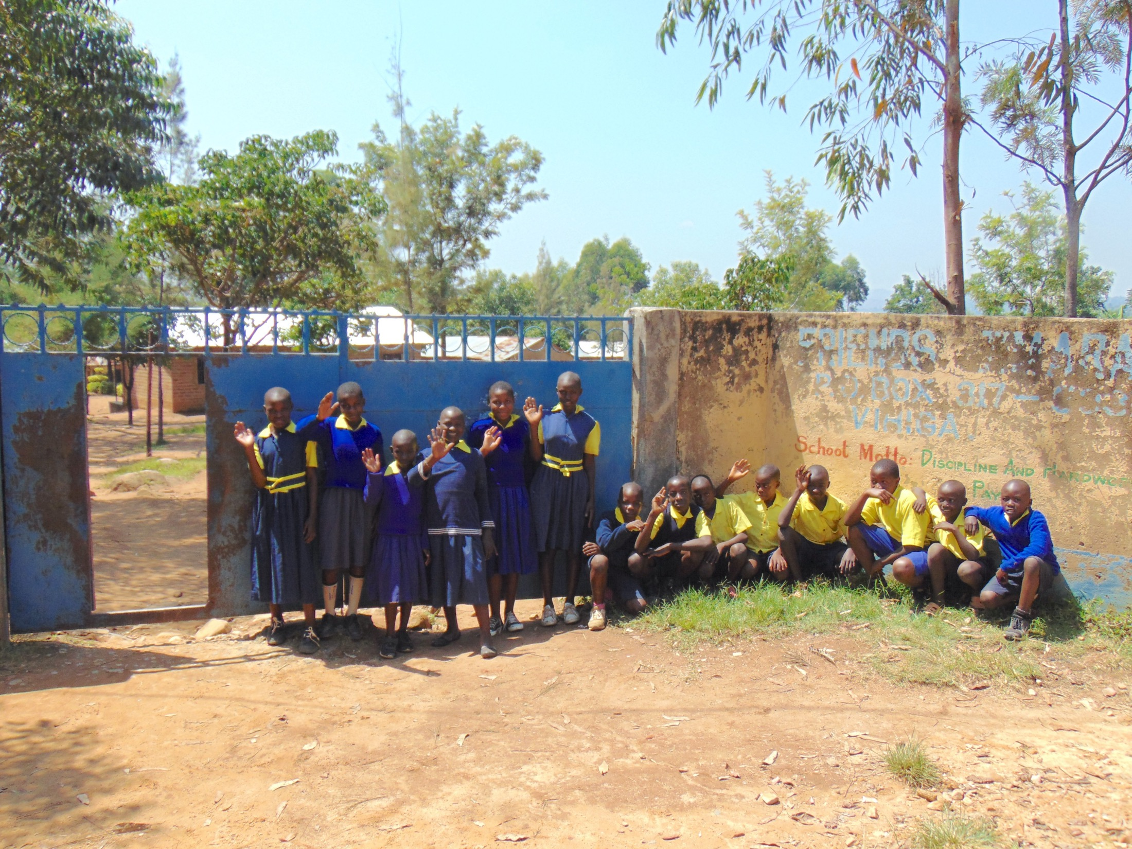 The Water Project : 1-kenya20153-pupils-outside-gate