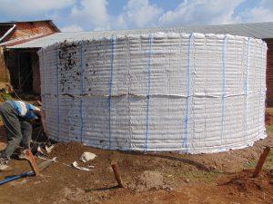 The Water Project:  Rain Tank Skeleton Raised