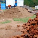 The Water Project: Banja Secondary School -  Piles Of Materials