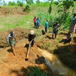 The Water Project: Malimali Community, Shamala Spring -  Excavation Begins