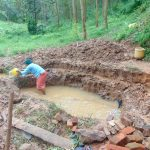 The Water Project: Bumira Community, Imbwaga Spring -  Excavation Begins