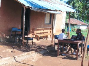 The Water Project:  Outside The Head Teachers Office