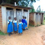The Water Project: Jamulongoji Primary School -  Girls At Their Latrines