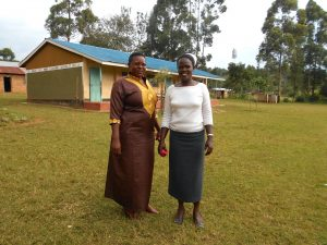The Water Project:  Teacher Mrs Margret Khasoa Margret Right With A Colleague