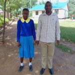 The Water Project: Shikomoli Primary School -  Student Ivy And Head Teacher Mr Bethuel Burmen