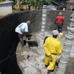 The Water Project: Ebukhuliti Primary School -  Cement Pillars Underway