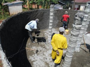 The Water Project:  Cement Pillars Underway
