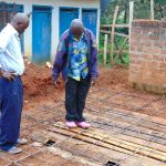 The Water Project: Banja Secondary School -  Inspecting Latrine Pits And Foundation