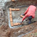 The Water Project: Shivembe Community, Murumbi Spring -  Brick Setting Begins