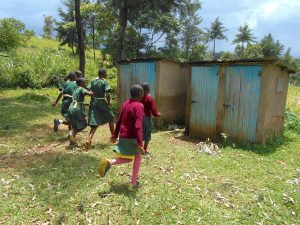 The Water Project:  The Girls Rushing To Their Latrines
