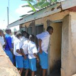 The Water Project: Gimarakwa Primary School -  Boys Lined Up At Their Latrines