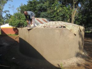 The Water Project:  Fitting Dome Skeleton To Walls