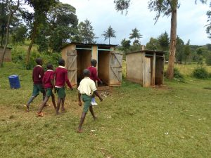 The Water Project:  The Gents Heading To Their Toilets