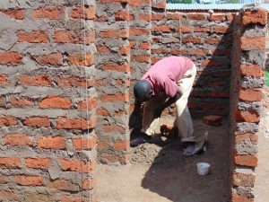 The Water Project:  Working On Latrine Stalls