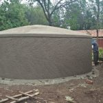 The Water Project: St. Joseph's Lusumu Primary School -  Working On Dome Cement