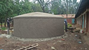 The Water Project:  Working On Dome Cement